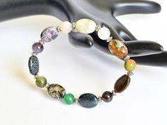 Emerald bracelet Stretchy gem bracelet Gem stone jewelry