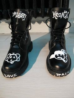 Black High Boots Smileyz H&M x Baby $kin Inspirations Kaws & Ice Cream (Part. V)