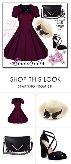 """SEVENGRILS.COM"" by lejla150 ❤ liked on Polyvore featuring Nina, vintage, dress, partydress and vintagedress"