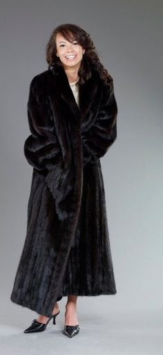 Long Black Mink Fur Coat - This is a classic to keep the cold winds of Chicago off your back.