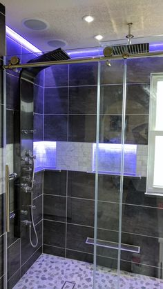 DreamLine Enigma-X in. W x 76 in. H Fully Frameless Sliding Shower Door in Brushed Stainless Steel, - Great Shower Door - Love it! Vigo Shower Doors, Frameless Sliding Shower Doors, Sliding Doors, Dreamline Shower, Framed Shower Door, Vanity Area, Glass Molds, Take A Shower, Shower Enclosure