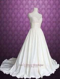 Amsale Coco Inspired Empire Wedding Dress with Pockets by ieie, $479.95