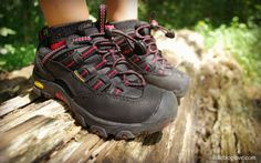 """Gear Review: KEEN Alamosa WP Shoes for Kids: """"Rugged rugged and sturdy design, features a water-resistant leather upper and a waterproof, breathable lining, making these perfect for creek crossings and mud puddle fun, fit true to size, comfortable"""" --Hike Blog Love @hikingmama"""