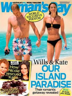 Prince William & Kate Middleton's Honeymoon Photos Leaked! Woman's Day Magazine published in Australia.