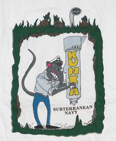 U.S. Navy NSGA Subterranean Hawaii Kunia Rat T-shirt L - NW #HanesHeavyweight #TShirt
