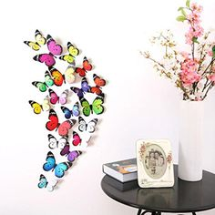 $1.39  - Clearance19pcs 3D DIY Butterfly Wall StickersCanserin Home Room Decorations -- Click on the image for additional details. (This is an affiliate link) #WallStickersMurals