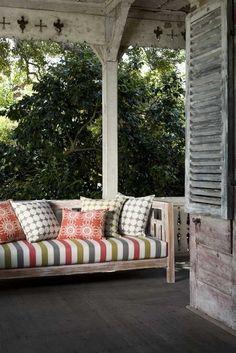 a cozy porch