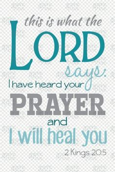 """2 Kings (ESV) - """"Turn back, and say to Hezekiah the leader of My people, Thus says the LORD, the God of David your father: I have heard your prayer; I have seen your tears. Behold, I will heal. Faith Scripture, Jesus Faith, Faith Prayer, Scripture Quotes, Bible Scriptures, Faith Quotes, Creation Bible Crafts, 2 Kings 20 5, Healing Verses"""