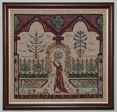 Medieval Herb Garden (CHAT 050) - Chatelaine cross stitch.