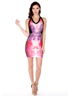 WOW Couture Oversize Floral Bandage Dress - Save 10% OFF at Lonny's