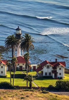 "New Point Loma Lighthouse, San Diego, California:  The ""new"" lighthouse was first lit in 1891."