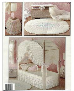 The Bedroom In Plastic Canvas Fashion Doll Playhouse Book 2 Leisure Arts 1400