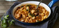 Korma med grönsaker och kyckling Korma, Santa Maria, Squash, Chicken Recipes, Curry, Dessert, Meat, Ethnic Recipes, Food