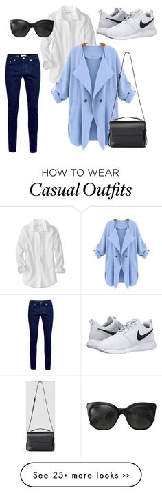 Casual by granaci95v on Polyvore featuring mode, NIKE, Chanel en AllSaints