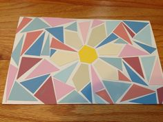 Paint chip greeting card