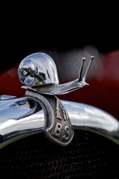Snail BSA Hood Ornament ( maybe not as fast as a Veyron then ? ) = (Captain SLOW from 'top gear '- would love this hood ornament