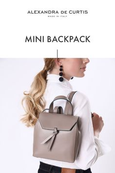 Are you looking for a designer leather handbag? Click through to check out the Bellagio Mini Backpack, handmade in Italy with smooth