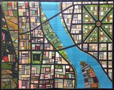 Ribbon winner of the Quilters Newsletter's Staff Favorite Quilt at Denver National Quilt Festival IX: Portlandia by Mary Kay Price.