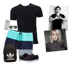 """""""Pool with Sage ~ Jake"""" by anon-112 ❤ liked on Polyvore featuring Hurley, Lakai, adidas Originals, Giorgio Armani, Native Union, Waverly, men's fashion and menswear"""