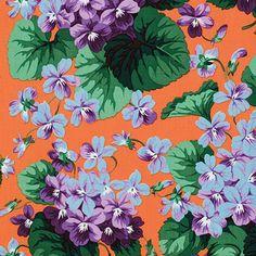 Snow Leopard Designs - Botanical - Violets - Peach