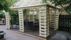 Pavilion Made From Recycled Pallets WP 20130710 002 Pallet pavillon in pallet garden pallet outdoor project with Pavilion pallet Garden Pallet Playhouse, Pallet Shed, Pallet Crates, Wooden Pallets, Garden Pallet, 1001 Pallets, Euro Pallets, Pallet Pergola, Pallet Boards