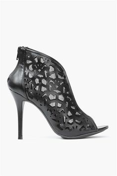 Isabel Cut Out Bootie in Black
