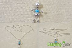 Wire Wrapped Jewelry Ideas-How to Make Adorable Wire Wrapped Silver Fairy Pendant Necklace 3