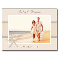 Wedding Save the Date Postcards | Neutral Starfish