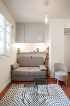 Grand Dressing, Small Apartment Interior, Sofa, Couch, Outdoor Rooms, Small Apartments, Architecture, Contemporary, Furniture