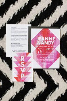Pink modern invitations