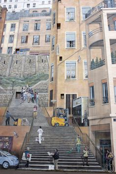 fresque Mur des canuts Lyon 3d Street Art, French Alps, Illusion Art, Travel Memories, Land Art, Types Of Art, Illusions, Places To Visit, Street View