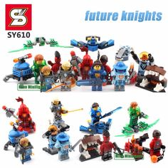 Castle Warriors Minifigure Building Blocks Bricks Lancebot Flame Thrower Clay Moorington Action Figures Toys SY610