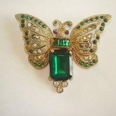 Mariposa verde claro Rhinestones por sanibelsands en Etsy