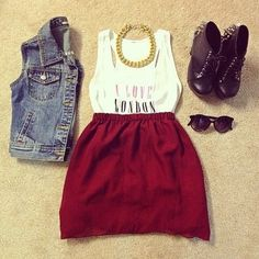 fashion, style, maroon, skirt