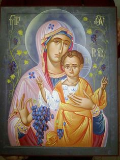 Maica Domnului (Icoane иконы) Religious Images, Religious Icons, Religious Art, Writing Icon, Hail Holy Queen, Christian Artwork, Religious Paintings, Blessed Mother Mary, Mary And Jesus