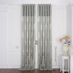 Floral Traditional Sheer Curtain  #curtains #decor #homedecor #homeinterior #blue Pink Sheer Curtains, Tulle Curtains, Hanging Curtains, Patio Door Curtains, Home Curtains, Kitchen Curtains, Small Balcony Design, Small Balcony Decor, Small Porch Decorating