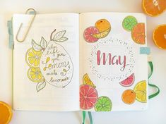 May is gonna be a juicy month • • • #bulletjournal #bujo #calender #creatvity #penlove #leuchtturm1917 #tombow #tombowdualbrush #crayola…