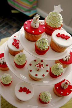 Ideas para conseguir unos #cupcakes muy #navideños.