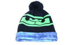 Nike Youth's Lebron Pom Blue/Lime Graphite Beanie Hat size 8/20 for just $21.24  #runningpant #niketech #beaniehat #shox… #Women39 #sneakerkingdom #nikesoccer… #20%sho #20% #hypervenom