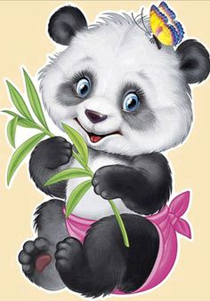 Round drill diamond embroidery diy diamond painting cross stitch kits mosaic pattern flower animal picture home decor gift Baby Animals, Cute Animals, Cute Panda Wallpaper, Panda Wallpapers, Cute Pictures, Cute Images, Cartoon Cartoon, Cute Clipart, Cross Paintings