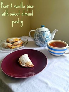 Blue Kitchen Bakes: Pear & vanilla pies with sweet almond pastry