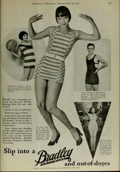 Louise Brooks and Bradley Swimwear.Advertisers will sometimes use film stars to promote their products. Celebrity endorsement is nothing new. This ad for Bradley swimsuits features Louise Brooks, Dorothy Dwan, Nick Stuart and Dorothy Gulliver. Louise Brooks, Vintage Advertisements, Vintage Ads, Vintage Photos, Vintage Posters, Vintage Trends, Vintage Style, Lost Girl, Silent Film Stars