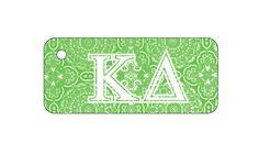 Kappa Delta Sorority Key Chain with Monogram/Big/Little on back! More @newbeginningdesigns.com