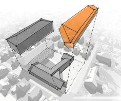 Stavanger Museum of Archeology / Lund + Slaatto Architects,completing the museum quarter diagram