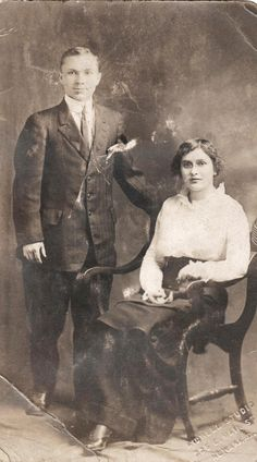 Selina M Morrison and her brother George.