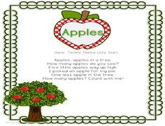 """Introducing """"Apples!"""" Deedee Wills originally wrote this song as part of her monthly poetry stations. We have worked together to create songs to accompany each poem. The entire set will include 36 songs, karaoke versions, and words to accompany each song."""
