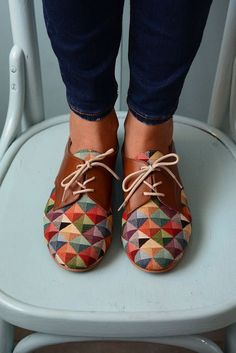 Step up your shoe game with these colorful oxfords.