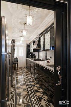Вlack pearls. Реализованный дизайн-проект 4-х комнатной квартиры.: интерьер, квартира, дом, кухня, барокко, 10 - 20 м2 #interiordesign #apartment #house #kitchen #cuisine #table #cookroom #baroque #10_20m2