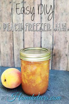 Easy DIY Peach Freezer Jam