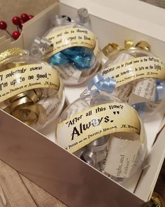 Step into Christmas with these beautiful christmas quote baubles - inspired by quotes from the Harry Potter books! Each of these baubles contain recycled book curls, coloured curls with contrasting stars, and feature an iconic quote. The quotes are just some of my favourites, if